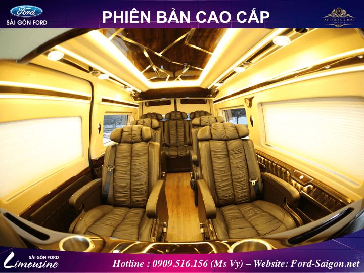 ford transit limousine cao cap 2018 muaxegiatot vn 04 - Cùng khám phá thiết kế mới mẻ và động cơ cải tiến của Ford Transit 2018