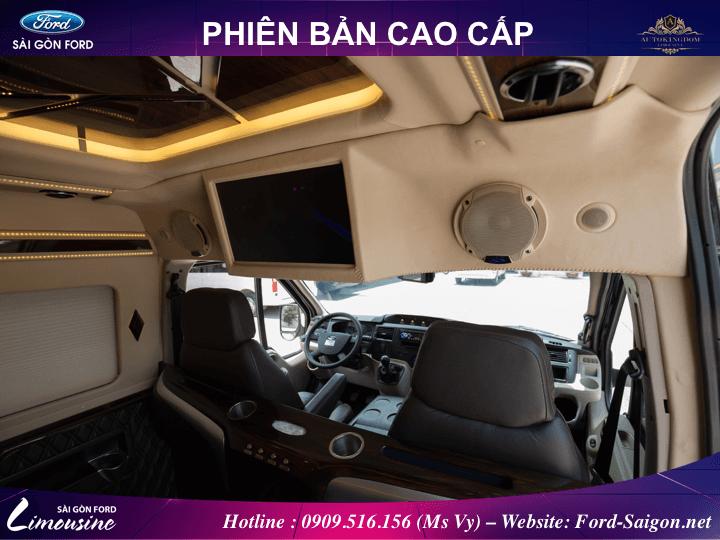 ford transit limousine cao cap 2018 muaxegiatot vn 08 - Đánh giá Ford Transit Limousine 2018 phiên bản cao cấp nhất kèm thông số và giá bán