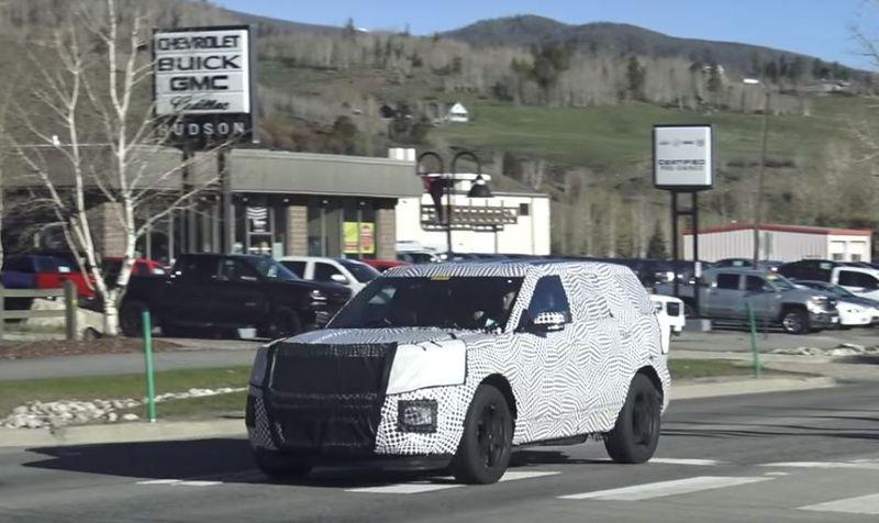 2019 ford explorer spied prototype hides big design changes 2 090956 - Ford Explorer 2019, cảm hứng từ hiện tại