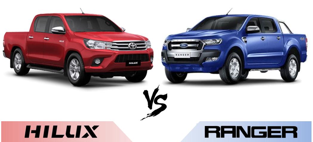 ford ranger vs hilux 2018 1 - So sánh Toyota Hilux 2.4G MT 4x4 và Ford Ranger XLT 2.2L MT 4x4  (Số sàn, 2 cầu)