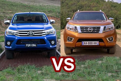 nissan navara toyota hilux 1 muaxegiatot vn - So sánh Toyota Hilux 2.4E AT và Nissan Navara EL (Số tự động, 1 cầu)