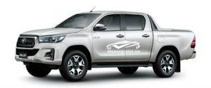 Toyota Hilux 2018 - 2019 màu trắng ngọc trai