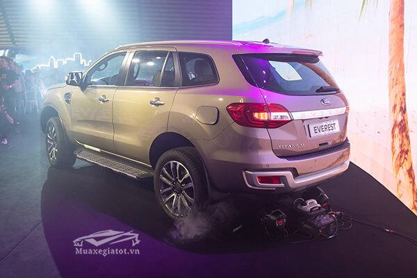 duoi hong xe ford everest 2018 2019 titanium 20 at 1cau muaxegiatot vn - So sánh Ford Everest Titanium 2.0L AT 4WD và Toyota Fortuner 2.8V 4x4 AT (bản cao cấp)