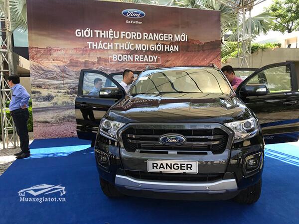 Ngoại thất Ford Ranger 2020 to cao, lực lưỡng