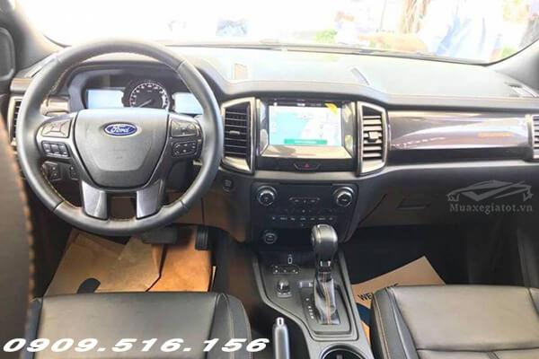 Nội thất Ford Ranger 2020 thoải mái, nhiều công nghệ