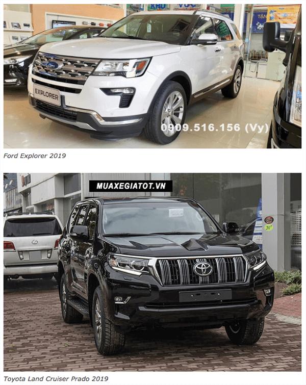 ss ford explorer va toyota prado 2019 ford saigon net 1 - So sánh Ford Explorer và Land Cruiser Prado VX 2021