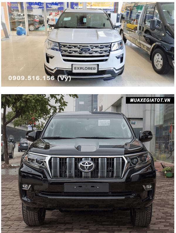 ss ford explorer va toyota prado 2019 ford saigon net 2 - So sánh Ford Explorer và Land Cruiser Prado VX 2021