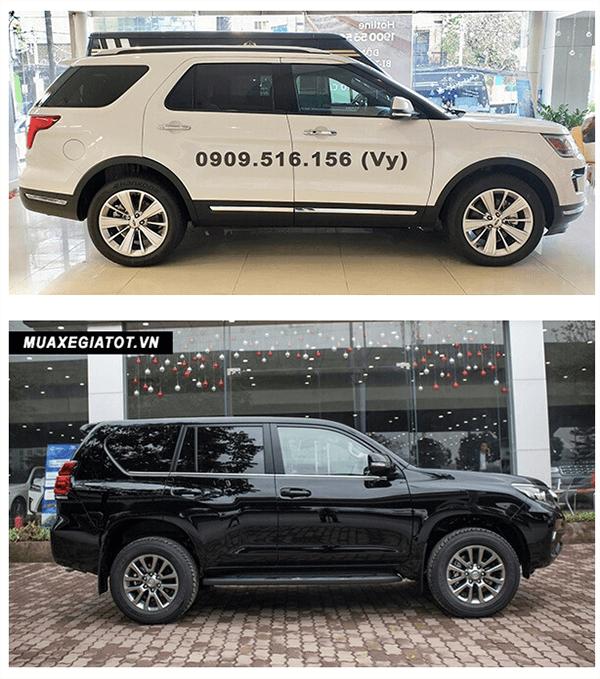 ss ford explorer va toyota prado 2019 ford saigon net 3 - So sánh Ford Explorer và Land Cruiser Prado VX 2021