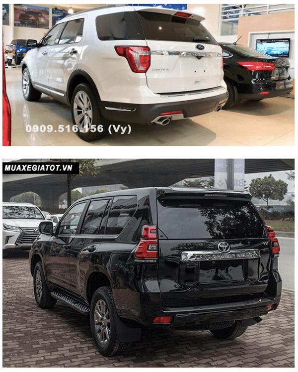 ss ford explorer va toyota prado 2019 ford saigon net 4 - So sánh Ford Explorer và Land Cruiser Prado VX 2021