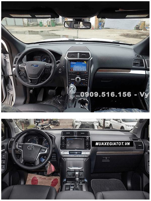 ss ford explorer va toyota prado 2019 ford saigon net 5 - So sánh Ford Explorer và Land Cruiser Prado VX 2021