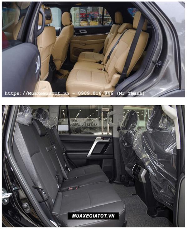 ss ford explorer va toyota prado 2019 ford saigon net 6 - So sánh Ford Explorer và Land Cruiser Prado VX 2021