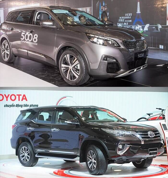 So sánh xe Peugeot 5008 và Toyota Fortuner tại Việt Nam 1 - Cuộc chiến giữa Toyota Fortuner 2021 với Peugeot 5008 2021