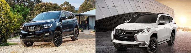 Hai phong cách thể hiện cá tính khác nhau  - Sự khác biệt giữa Pajero Sport 2021 và Ford Everest 2021 đều cùng nằm trong phân khúc SUV 7 chỗ