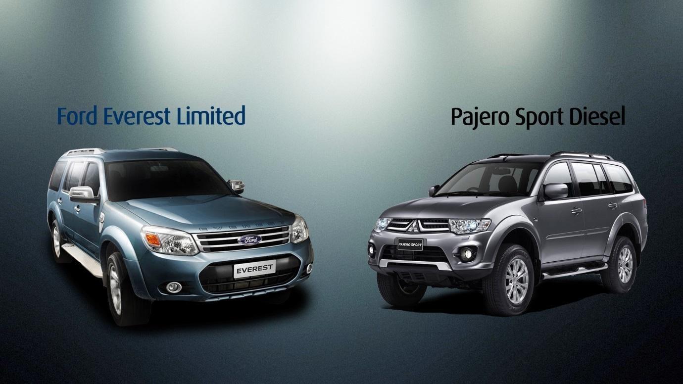 Pajero Sport 2021 dụng dộ Ford Everest 2021  - Sự khác biệt giữa Pajero Sport 2021 và Ford Everest 2021 đều cùng nằm trong phân khúc SUV 7 chỗ